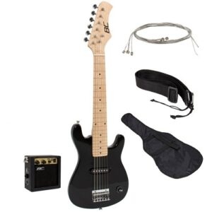 New 30 Kids Black Electric Guitar Combo Accessory Kit
