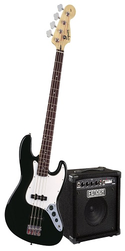 Squier By Fender Stop-Dreaming Start Playing Set Affinity J Bass-W Rumble 15 AMP Black