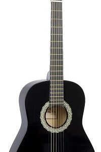39 Inch Full Size Black Student Beginner Classical Nylon String Guitar