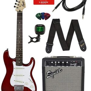 Squier By Fender Guitar Set In Transparent Blue